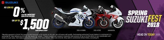 Suzuki - Spring Suzuki Fest for Sportbike and Standard